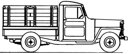 Willys Jeep 1-Ton Stake Truck (1956)