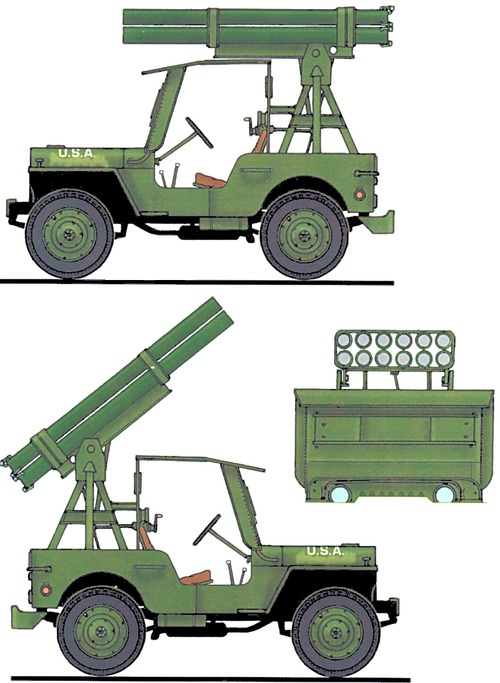 Willys Jeep MB + M8 Rockets