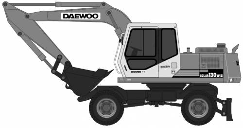 Daewoo Solar 130W Excavator