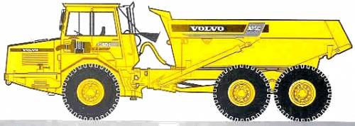 Volvo A25C 22 ton Construction Dump Truck (1997)
