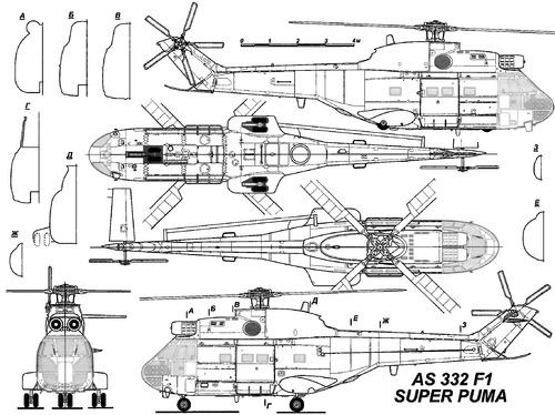 Aerospatiale SA.332 F1 Super Puma