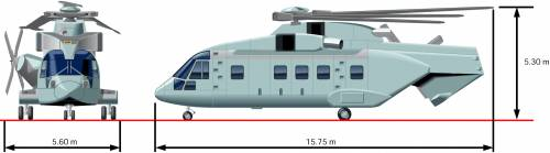 AgustaWestland AW101 Helicopter Folded