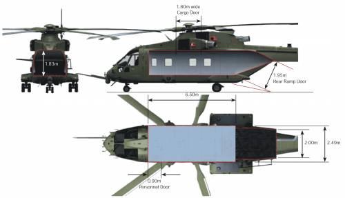 AgustaWestland AW101 Helicopter Interior