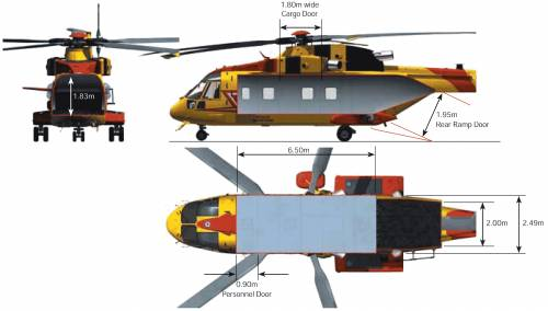 AgustaWestland AW101 Search And Rescue Helicopter Interior