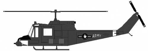 Bell 204 UH-1 Huey Gunship