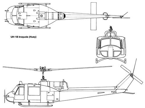 Bell 204 UH-1B Iroquis Huey