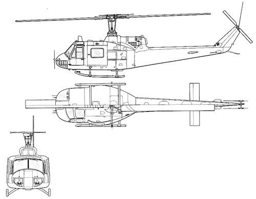 Bell 204 UH-1B Iroquois Huey