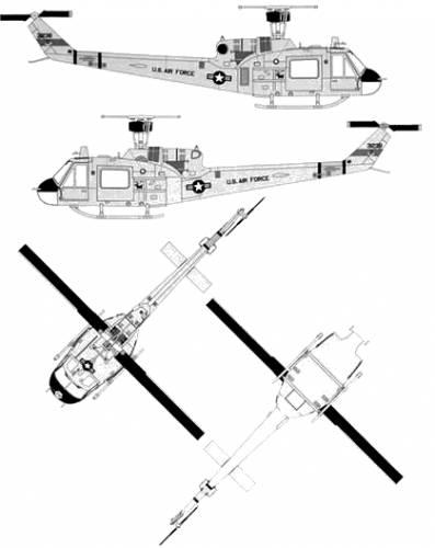 Bell 204 UH-1F Huey