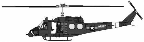 Bell 205 UH-1 Huey Gunship