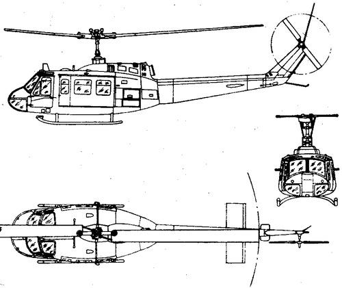 Bell 205 UH-1D Iroquois Huey