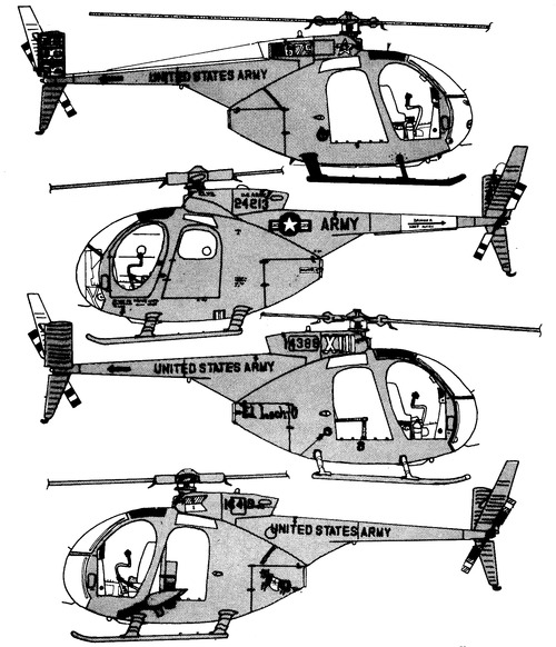 Bell 206 OH-6A Cayuse