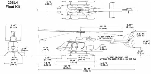 Bell 206L4 Longranger IV Float Gear