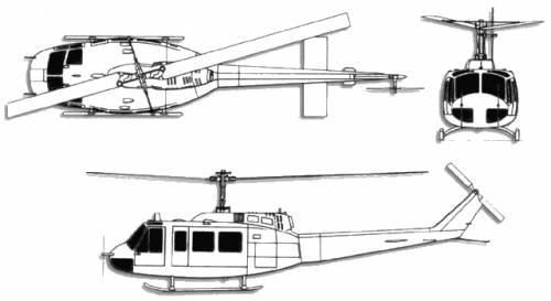 Bell 212 UH-1 Huey