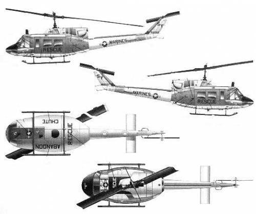 Bell 212 UH-1N Huey