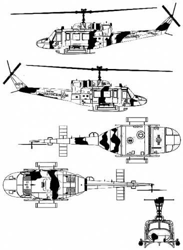 Bell 212 UH-1N Huey Gunship