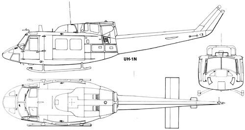 Bell 212 UH-1N Twin Huey