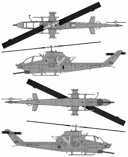 Blueprints > Helicopters > Bell > Bell AH-1F Cobra