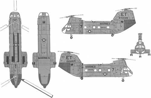 Boeing-Vertol CH-46E Sea Knight Tiger