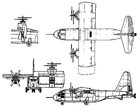 Hiller X-18 Experimental VTOL transport