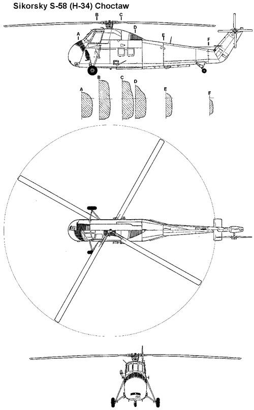 Sikorsky S-58 H-34 Choctaw