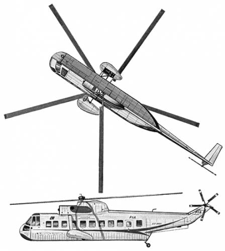 Elicottero S 61 : Blueprints gt helicopters sikorsky s n