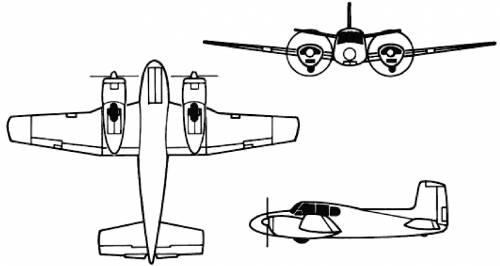 Beechcraft U-8F Seminole Queen Air