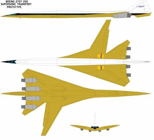 Boeing 2707 200 sst prototype