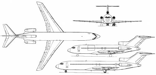 Boeing 727-100c and 727-200