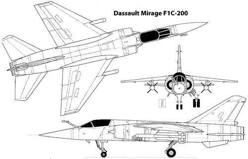 Dassault Mirage F.1C-200