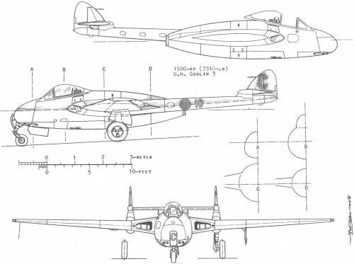 de Havilland DH.100 Vampire (J-28)