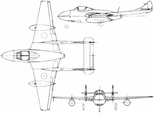de Havilland DH.115 Vampire Trainer (England) (1950)