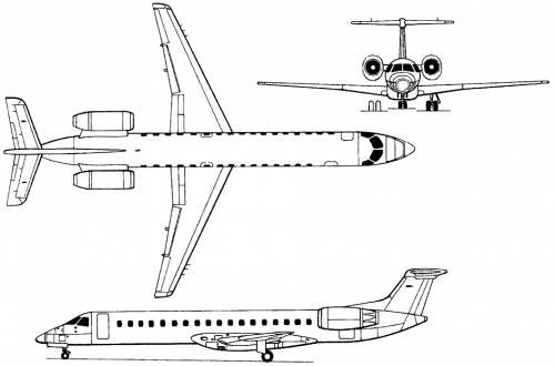 Embraer EMB-145 Amazon / ERJ-145 (Brazil) (1993)