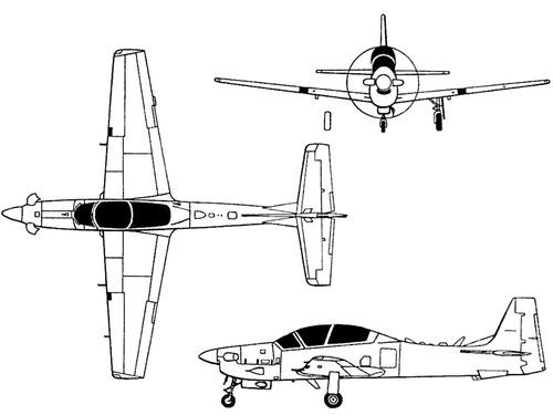 Embraer EMB 314 YA-29 Super Tucano