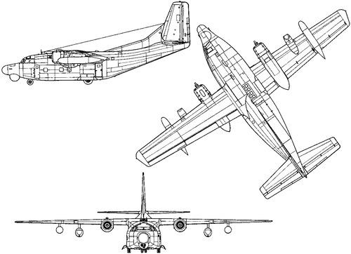 Fairchild AC-123K Black Spot