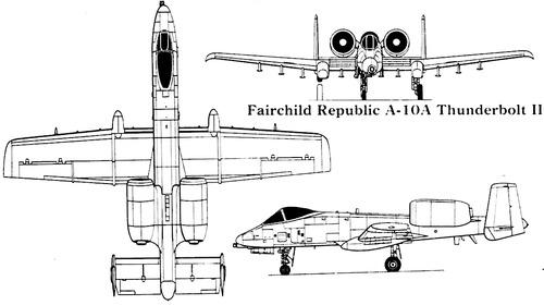 Fairchild Republic A-10A Thunderbolt II Warthog