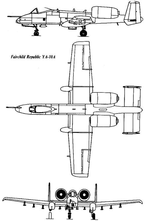 Fairchild Republic YA-10 Thunderbolt II
