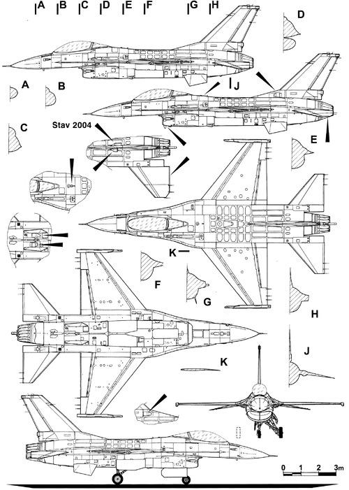 General Dynamics F-16A Fighting Falcon - Netz