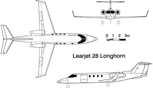 Learjet 28 Longhorn