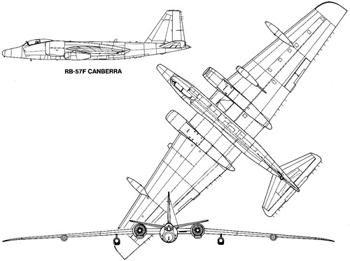 Martin RB-57F Canberra