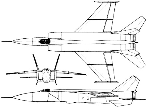 Mikoyan-Gurevich E-266 (MiG-25 Foxbat)
