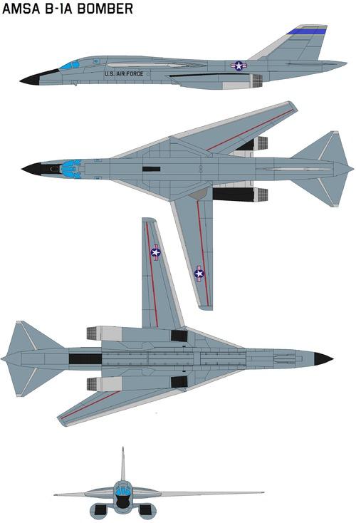 AMSA b-1a bomber