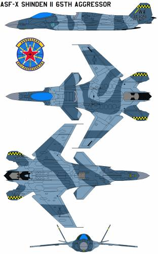 ASF-X Shinden II 65th Aggressor Squadron