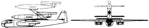Arado Ar 234C + Fieseler Fi 103 V1