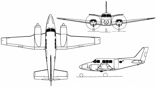 Beech Model 65 / 70 / 80 / 88 Queen Air (USA) (1958)
