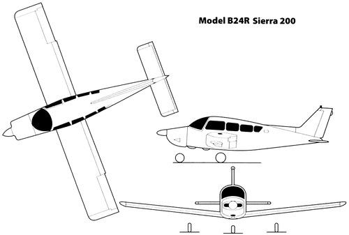 Beech Model B24R Sierra 200