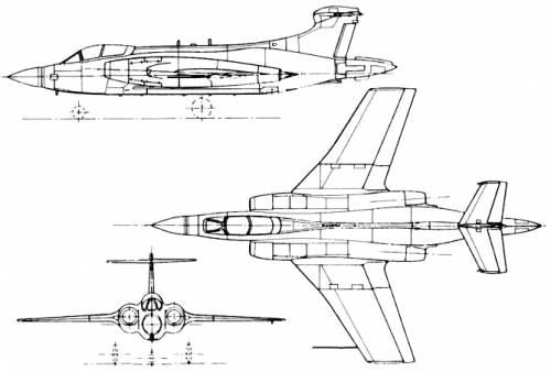Blackburn (Hawker Siddeley) B-103 Buccaneer (England) (1958)