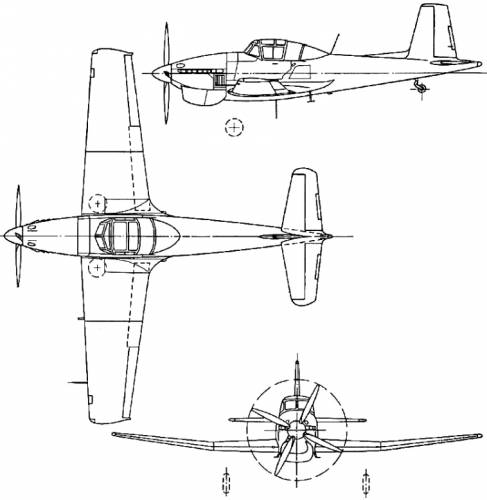 Boulton-Paul P.108 Balliol (England) (1947)