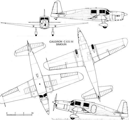 Caudron C.635M Simoun
