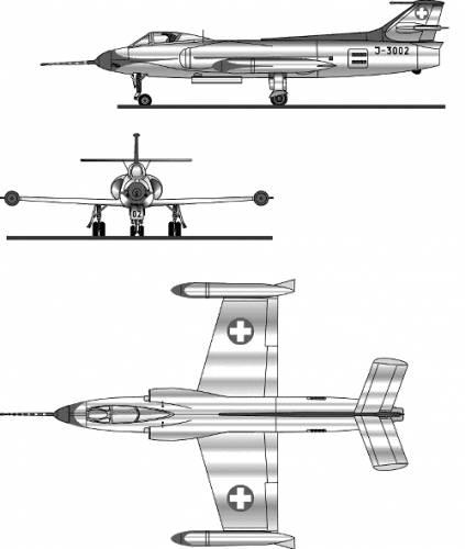 FFA P-16 fighter