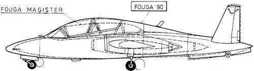 Fouga CM.170 Magister - Fouga 90